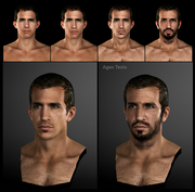 Desmond face models by Michel Thibault
