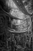 Lower Constantinople market by Max Qin