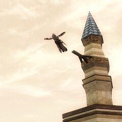 Altaïr faisant un <b>saut de la foi</b> Limassol