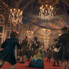 埃莉斯与阿尔诺在凡尔赛宫追逐