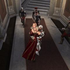埃齐奥把卢克雷齐娅带到卡特琳娜的牢房。