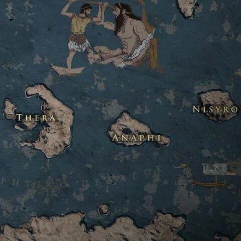 地图上的阿纳菲岛
