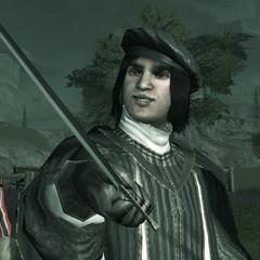 Vieri daagt Ezio uit.