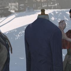 艾伦在制作一件外套