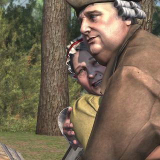 Oliver et Corrine s'enlaçant après la proposition de Connor.