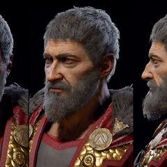 老年尼科拉欧斯的头部模型