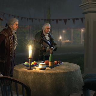 劳伦斯·华盛顿与圣殿骑士同僚会面