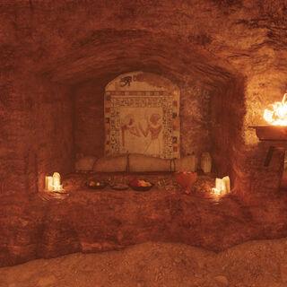 霍普扎法墓中的木乃伊