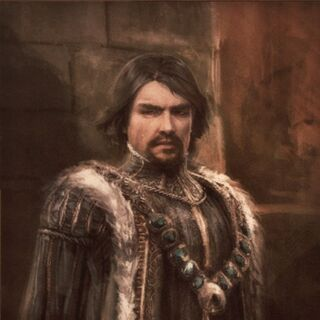 Portret van Micheletto in het <a href=