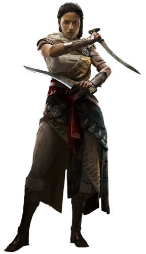 "Aya (Amunet) w <a href=""/wiki/Assassin%27s_Creed:_Origins"" title=""Assassin's Creed: Origins"">Assassin's Creed: Origins</a>"