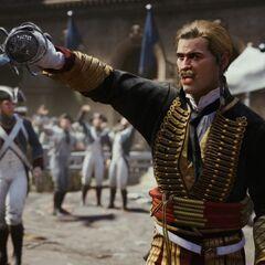 <b>Marcourt</b> défiant une recrue en duel