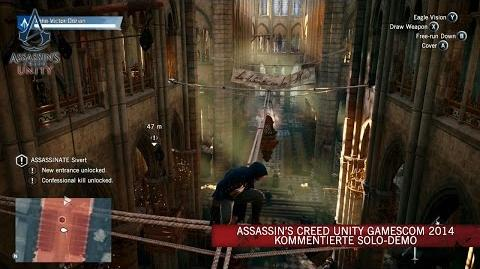 Assassin's Creed Unity GamesCom 2014 kommentierte Solo-Demo DE