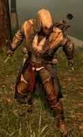 Connor z wysuniętym ostrzem (by Kubar906)
