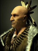 Native American concept model- Personal work by Michel Thibault