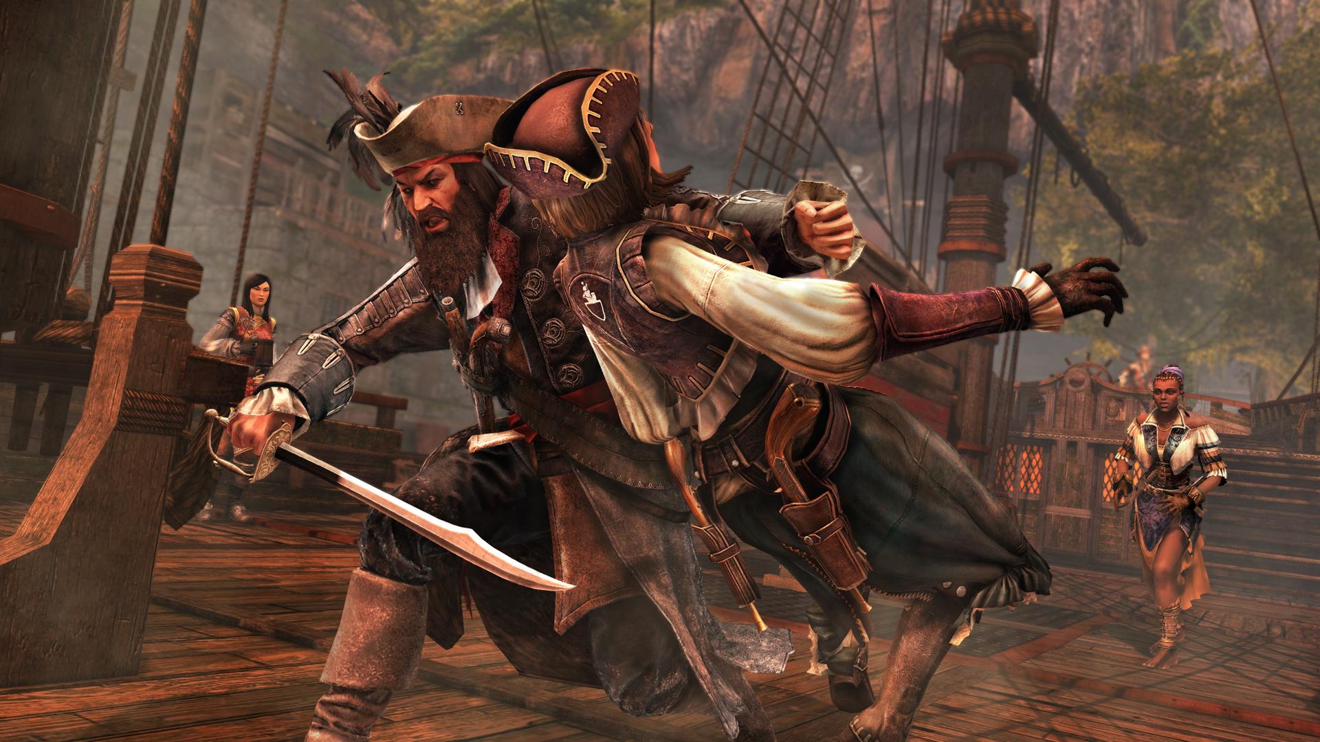 image - ac4 - blackbeard vs lady black | assassin's creed wiki