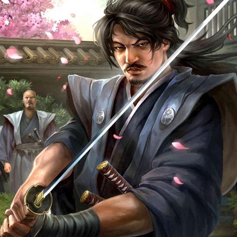 <b>Hattori Masanari</b> en tenue de Samurai