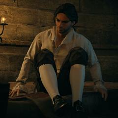 Arno se couchant dans sa cellule