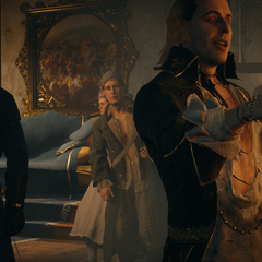 Sade se renseignant au sujet de la mission d'Arno