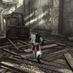 Ezio explorant les ruines du palais du Latran