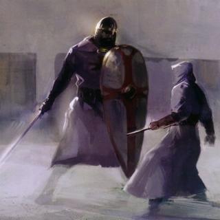 阿泰尔与一名骑士战斗概念图
