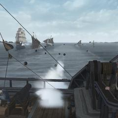 康纳下令向敌舰开炮