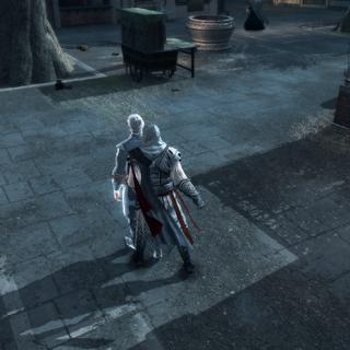 Ezio empoisonnant le troisième administrateur