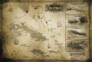 ACIV Black Flag mappa tesoro Caraibi