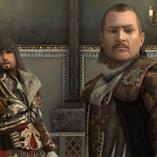 Ezio et Mario dans la Chapelle Sixtine