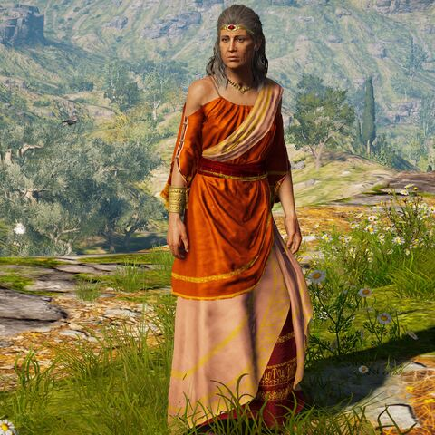 琪塔站在神庙外