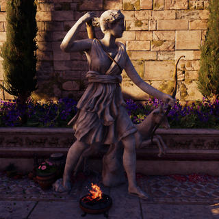 Statue of Artemis in <a href=