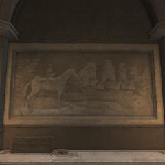华盛顿巡视船队的雕刻画