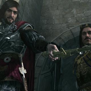 Cesare en Octavian tijdens het beleg van Monteriggioni.
