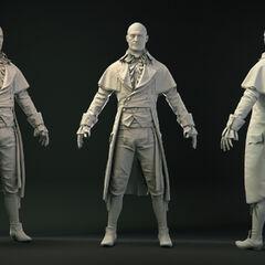 Clay renders of Robespierre