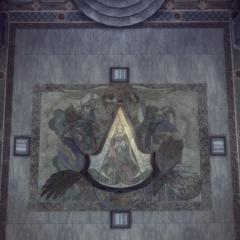 教堂地板隐藏的刺客徽记