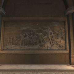 华盛顿带领军队的雕刻画