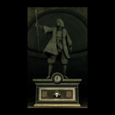 Die Statue von Wei Yu in Monteriggioni