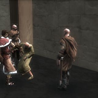 <b>Shalim</b> et ses gardes harcelant un citoyen