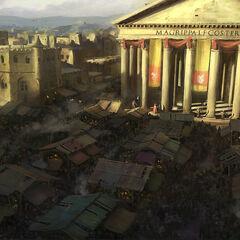 万神殿市集的艺术设定图