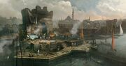 World - Turkey - Constantinople - The port - Concept Art