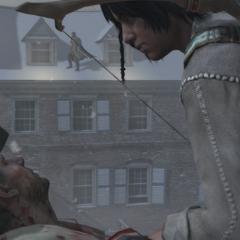 Connor interrogeant le tireur