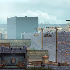 一个阿卡城堡墙壁的场景,由<a href=