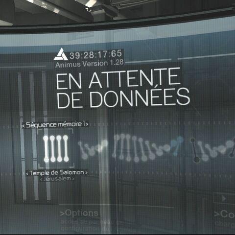 Représentation virtuelle de l'ADN dans l'Animus 1.8