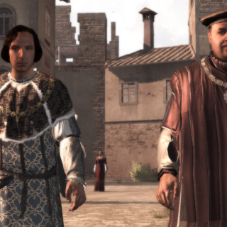 Lorenzo en Uberto discussiëren.