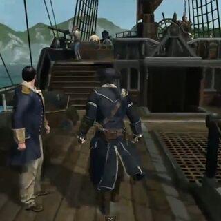 Man kann sich auf dem Schiff frei bewegen.