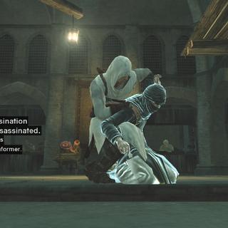 Altaïr schakelt een wachter uit.