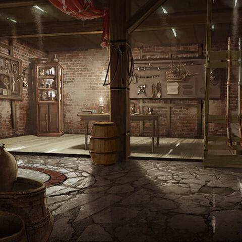 Concept-art du sous-sol du <b>manoir</b>