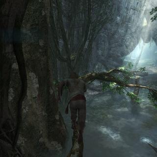 Edward traversant la jungle d'<b>Isla Providencia</b>