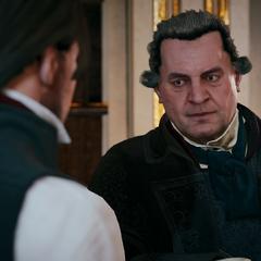 François apprenant l'arrivée d'Élise à Arno
