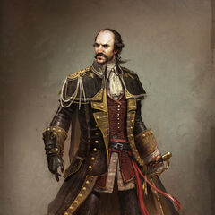 Finalized concept art of Charles Lee
