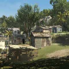 Le village située en contrebas du manoir